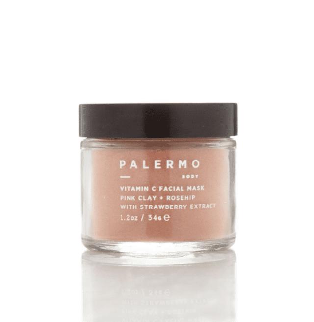 Palermo All Natural Vitamin C Facial Mask Pink Clay + Rosehip