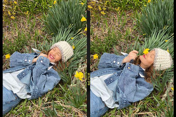 Drew Barrymore in grass