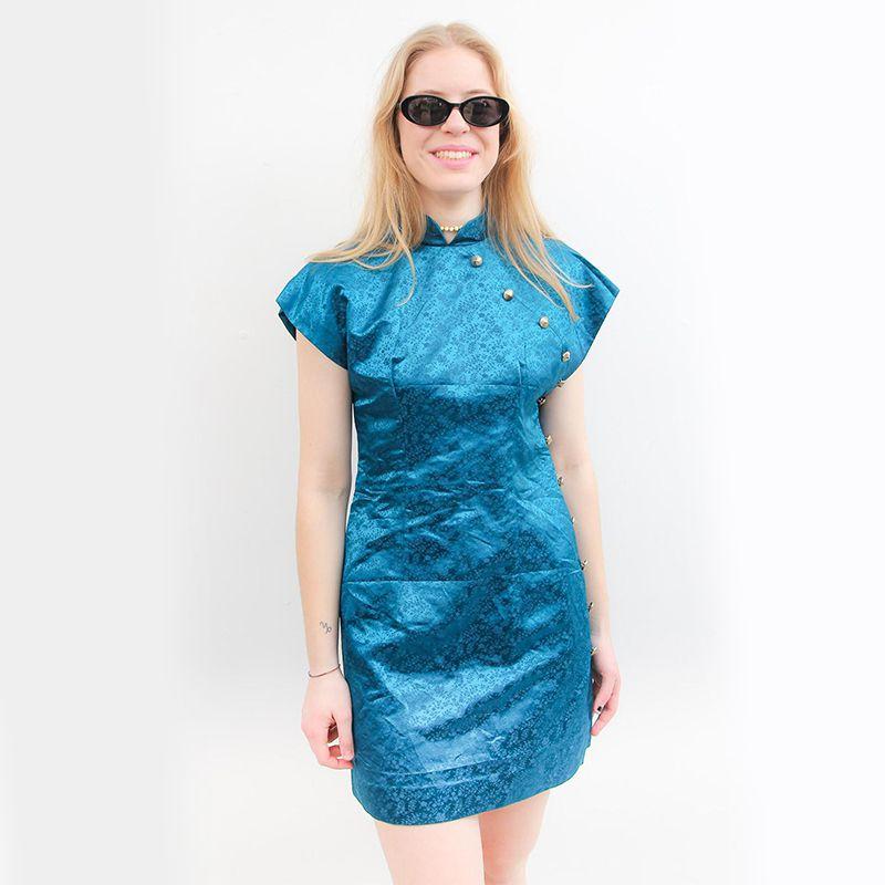 Vintage Electric Blue Dress