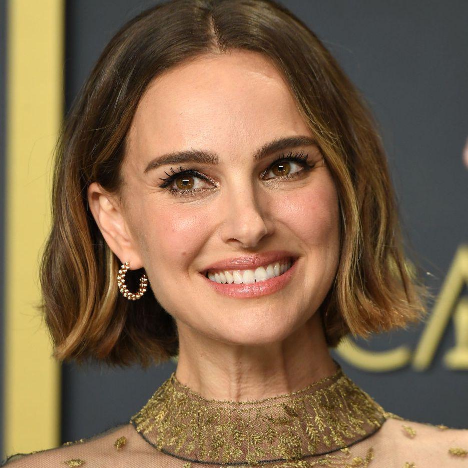 Natalie Portman textured lob