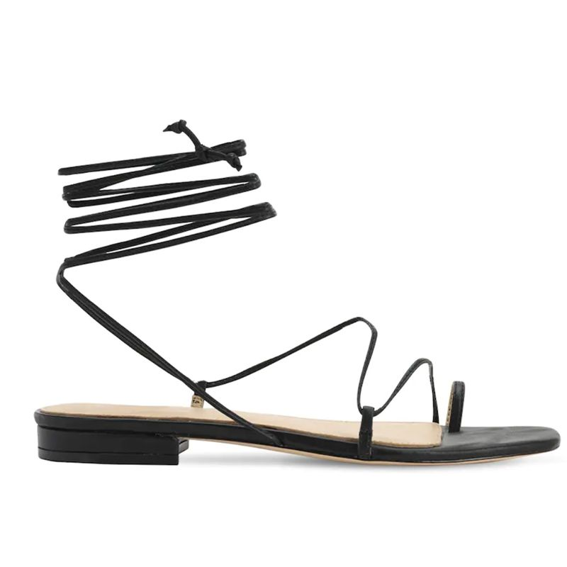 10MM Leather Lace-Up Sandals