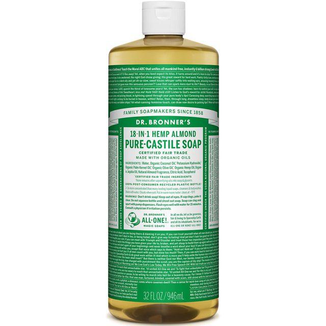 18-in-1 hemp almond pure castile soap