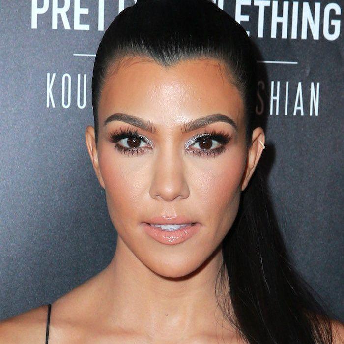Kourtney Kardashian Glitter Makeup