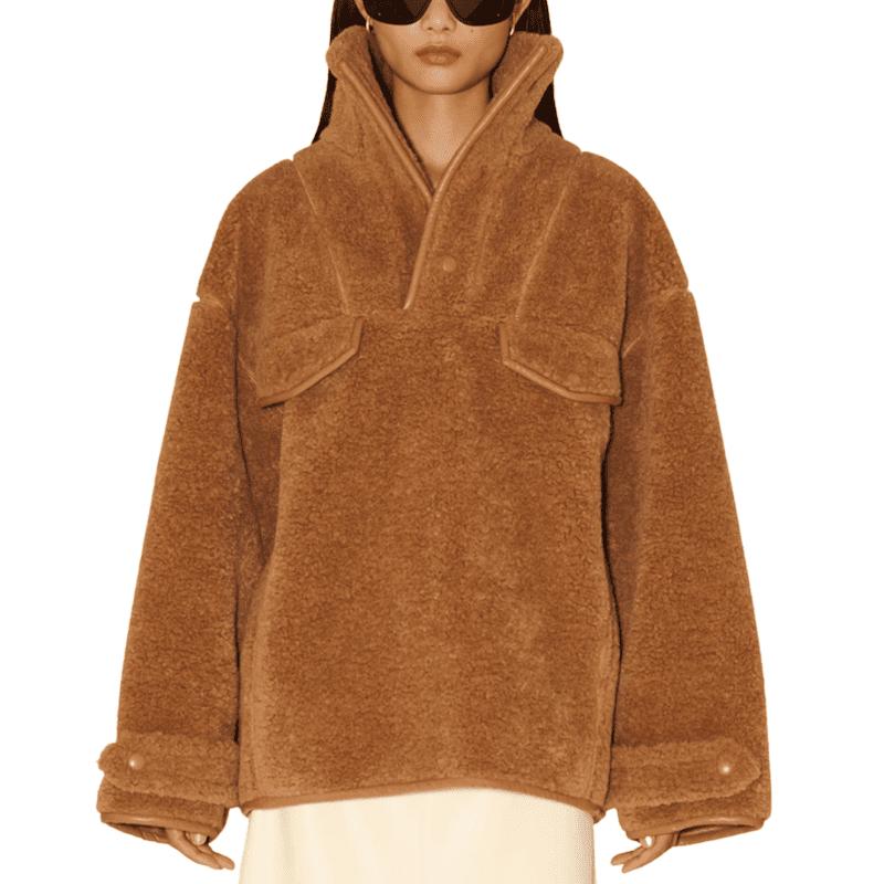 Nanushka Falon Fleece Pullover