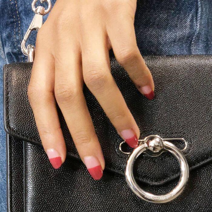 Color-block manicure