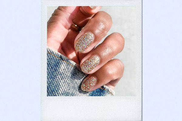 glitter nail polish manicure