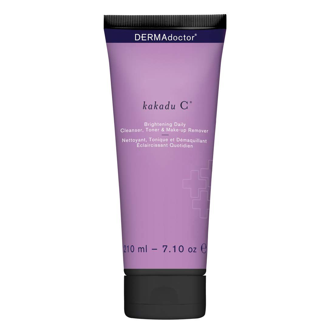 purple bottle with dark purple text