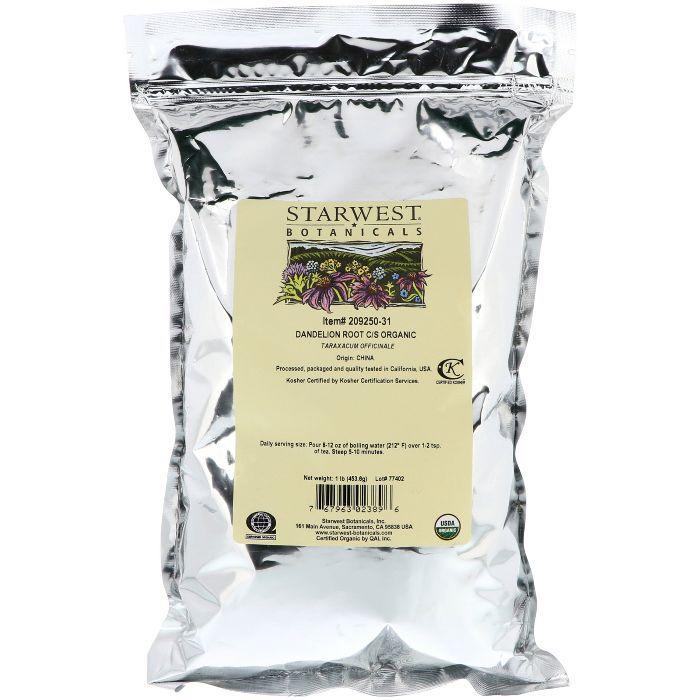 Starwest Botanicals Organic Raw Dandelion Root Tea
