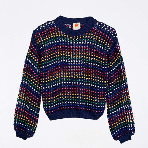 Multi Colored Beaded Crochet Sweater ($240)