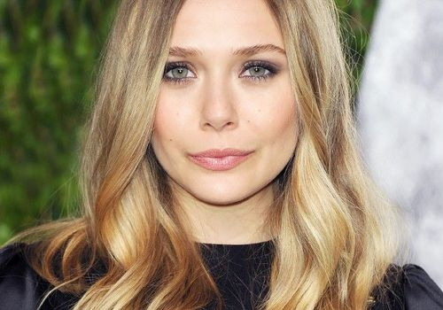 Elizabeth Olsen rooted blonde hair