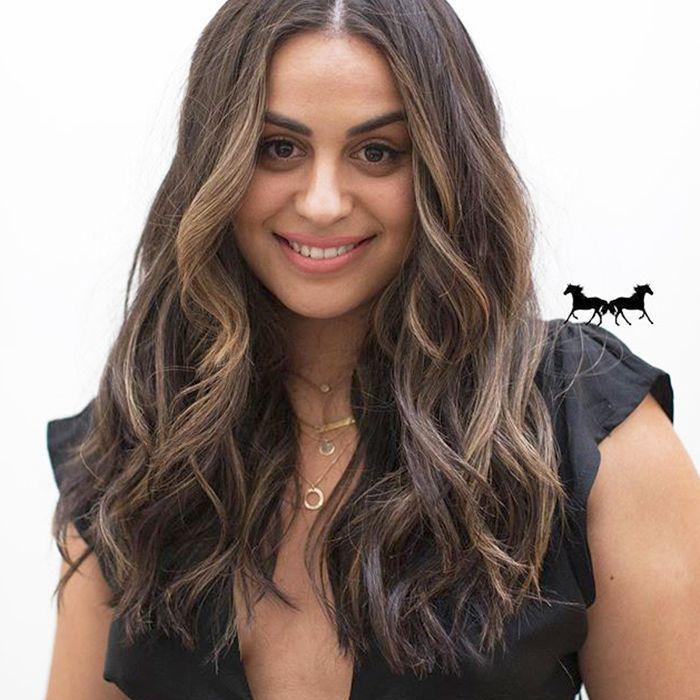 lowlights for brown hair: honey hair