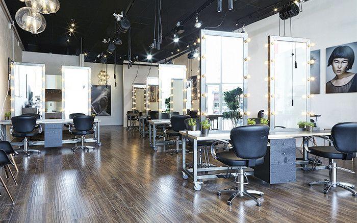 Spoke & Weal hair salon interior