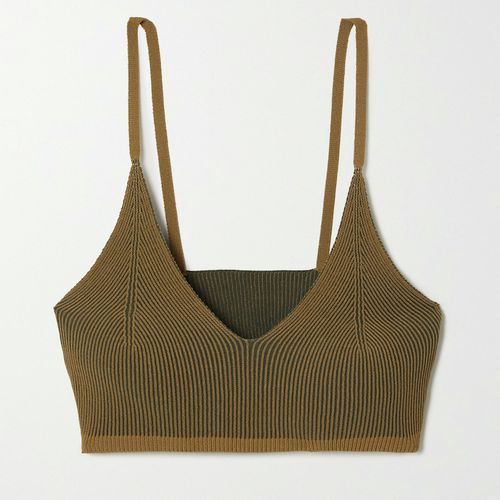 Jacquemus Valensole Ribbed-Knit Bralette