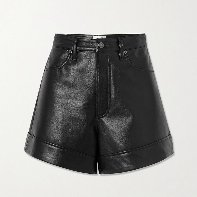 Recycled Leather-Blend Shorts
