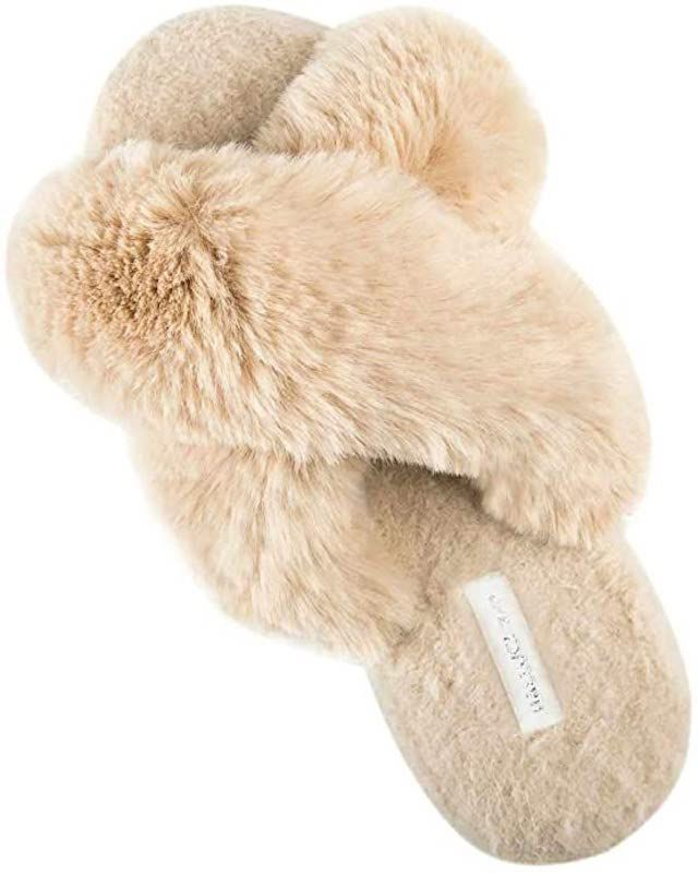 soft beige slippers