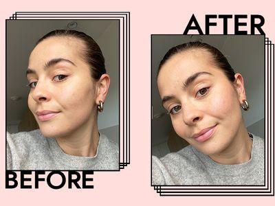 Patrick Ta Major Beauty Headlines Blush Results on Emily Algar