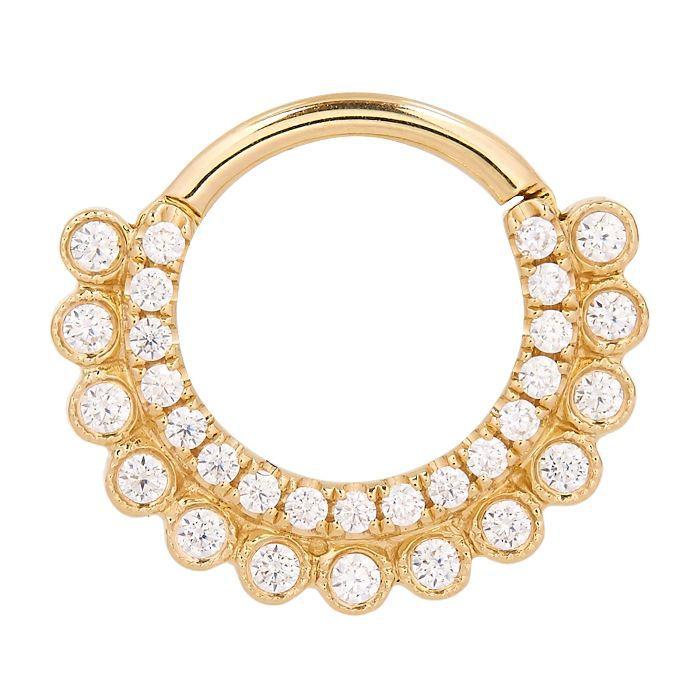 Maria Tash 8mm Cubic Zirconia Aspara Clicker Daith Ring