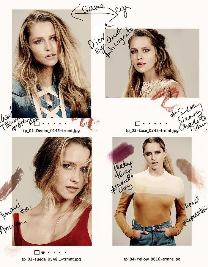 Makeup mood board for Teresa Palmer photo shoot