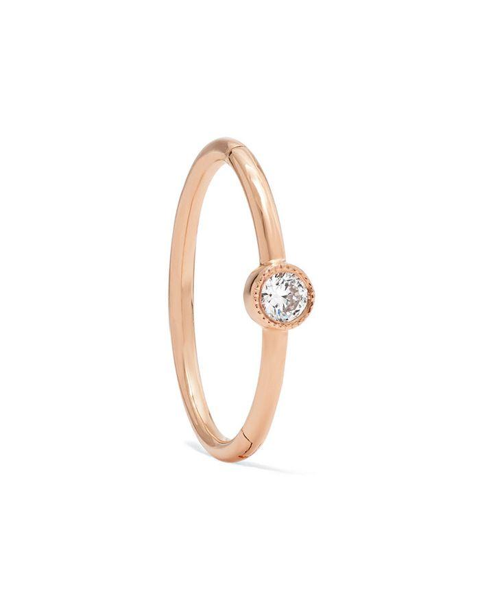 Maria Tash Rose Gold Diamond Hoop Earring