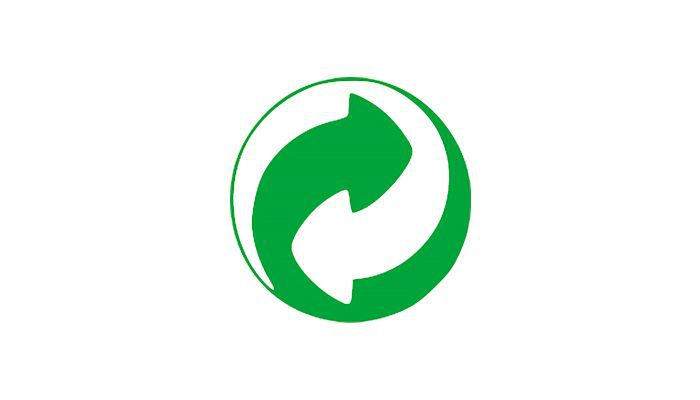recycling organization symbol on beauty products