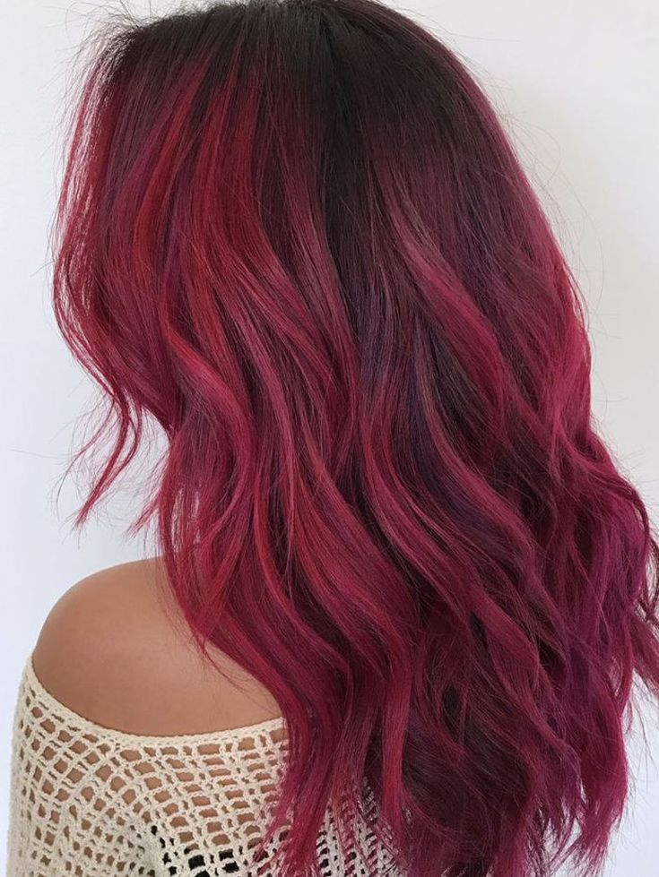 Best Examples Of Red Ombre Hair