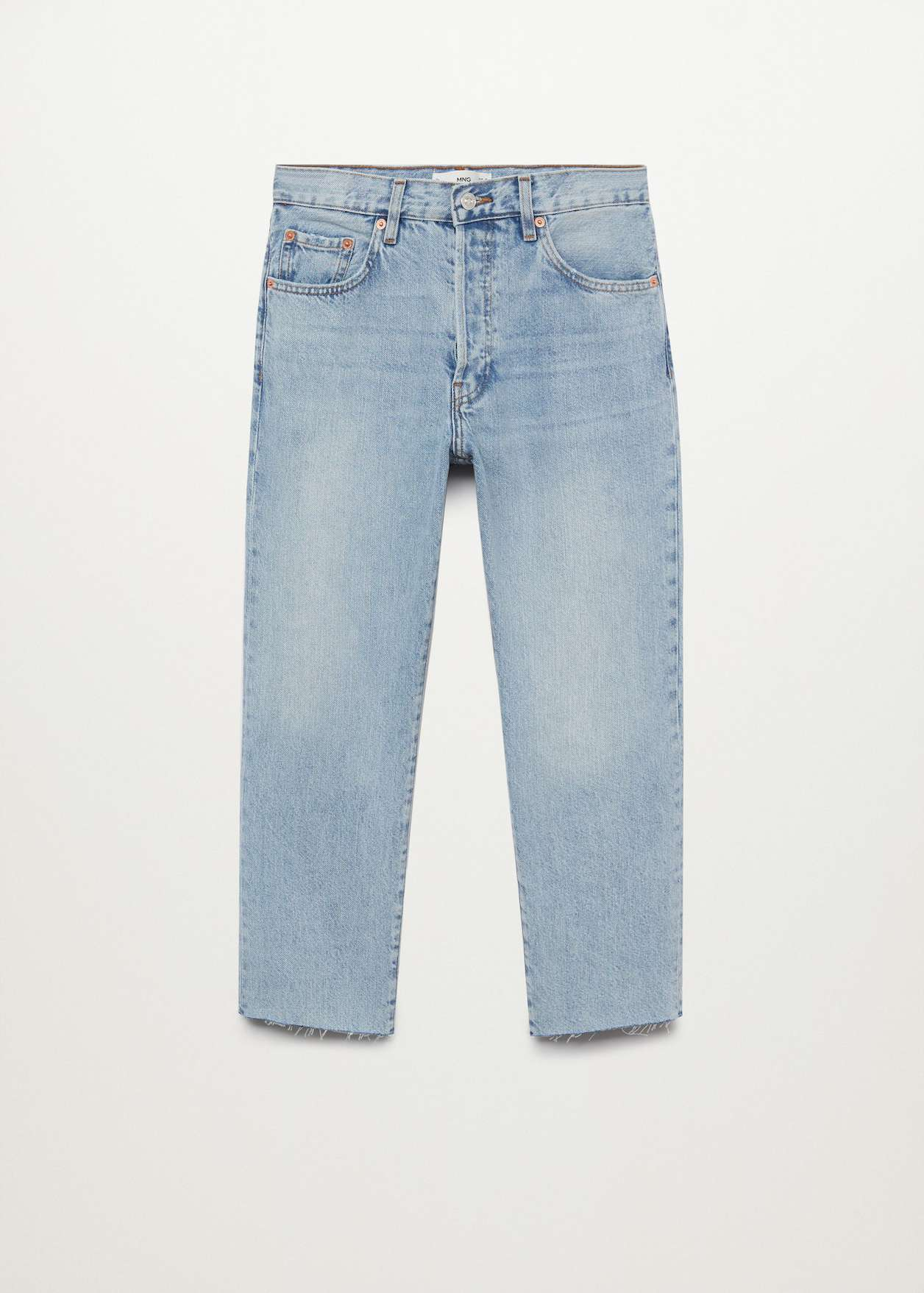 Mango Ankle-Length Straight-Fit Jeans