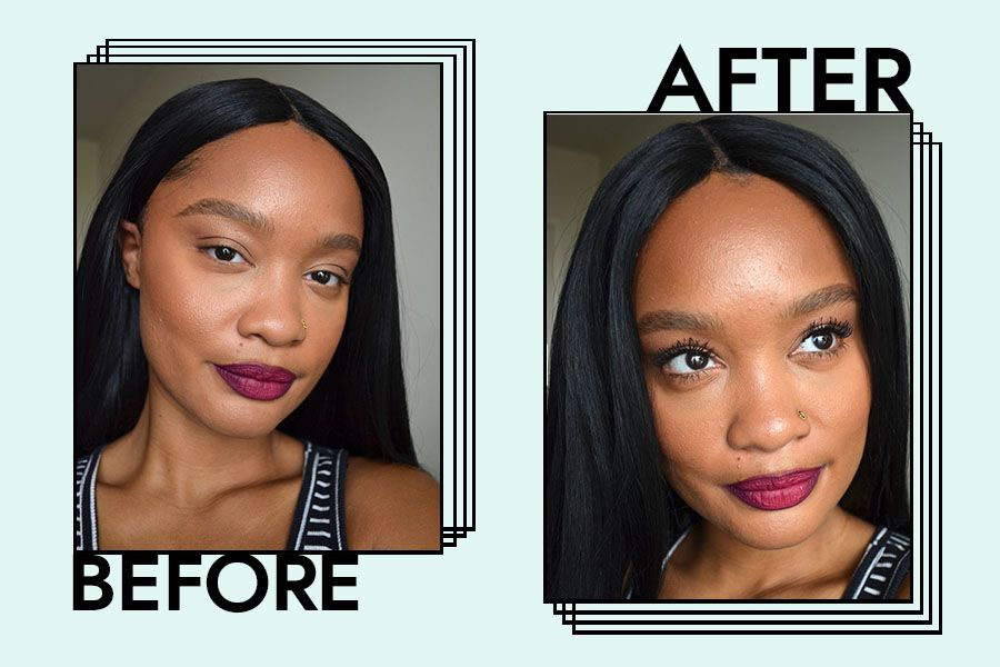 benefit cosmetics they're real mascara before and after