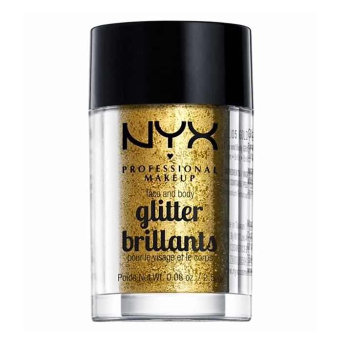 Best glitter makeup: NYX Face & Body Glitter in Gold