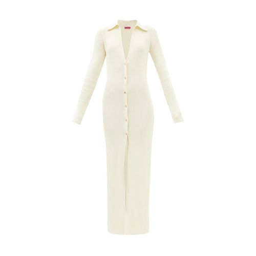 Gauge81 Rubi Plunge-Neck Ribbed Longline Dress