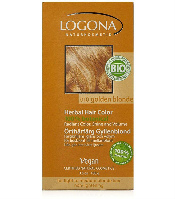 natural hair dye: Logona Herbal Hair Colour in Golden Blonde