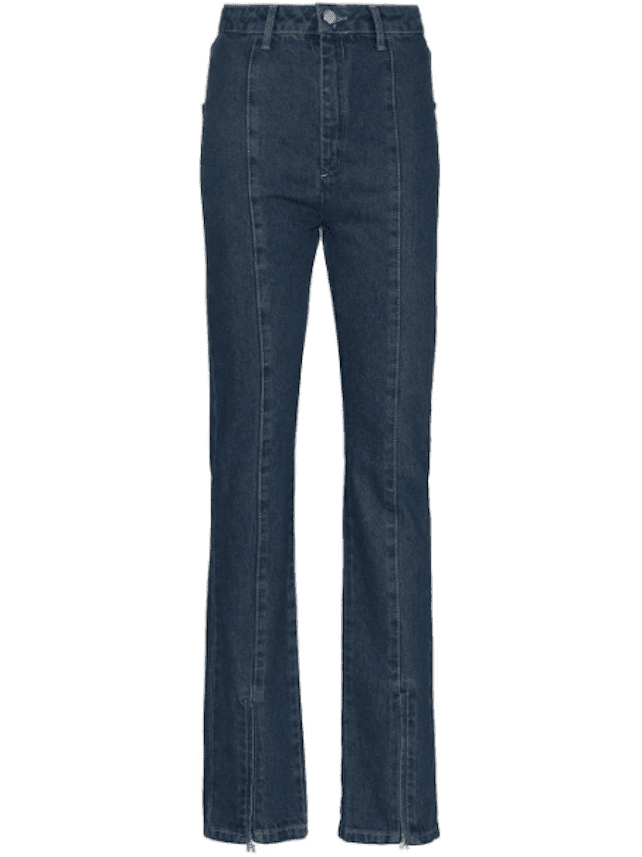 Rotate Jada Zip-Ankle Flared Jeans
