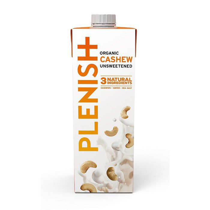 Plenish Organic Cashew Unsweetened 1L (Pack of 8)
