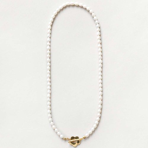 Sofia Pearl Necklace in Gold ($160)