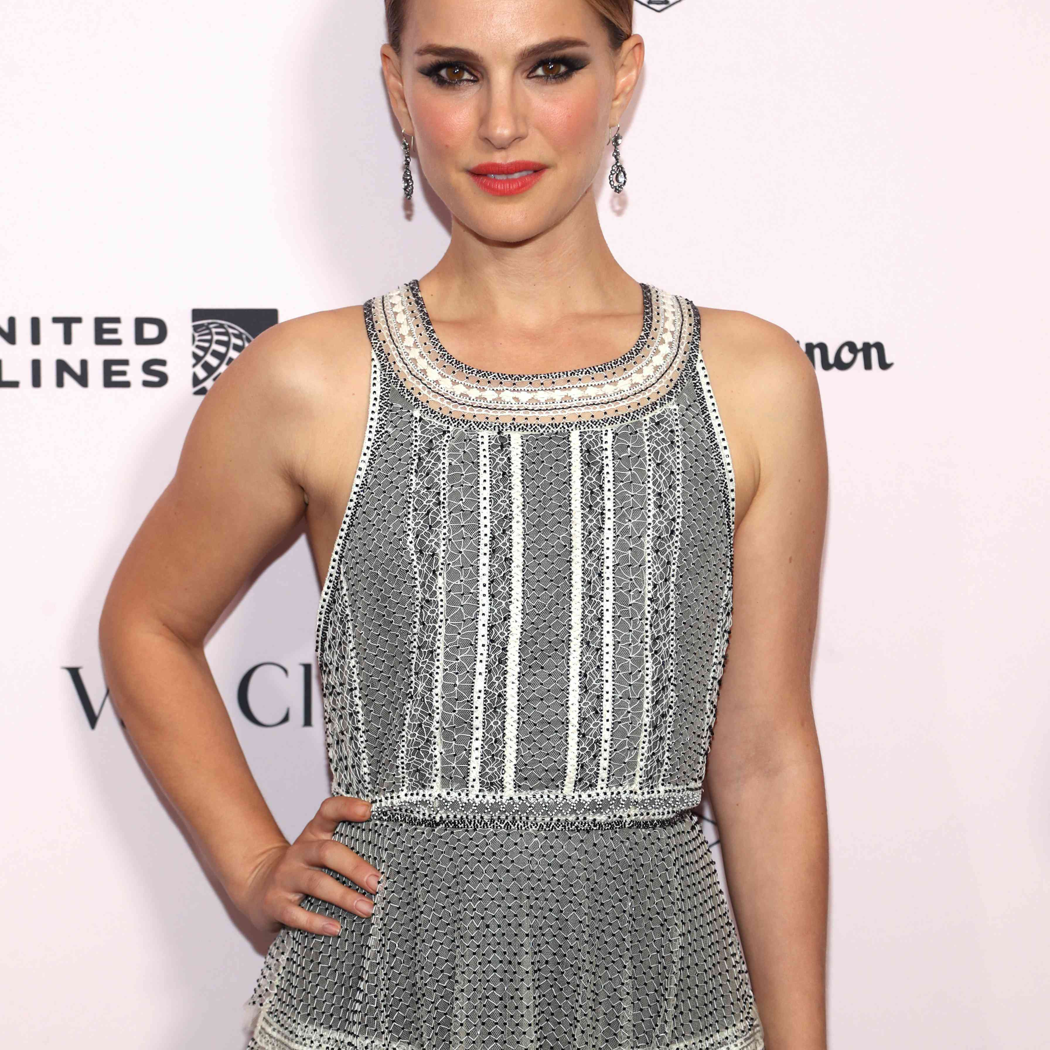 Natalie Portman posing on the red carpet at the 2019 LA Dance Project Gala hosted by Dom Pérignon