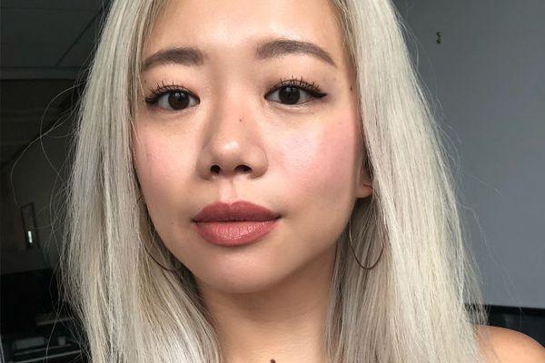 Selfie of Faith Xue wearing Korean cushion makeup