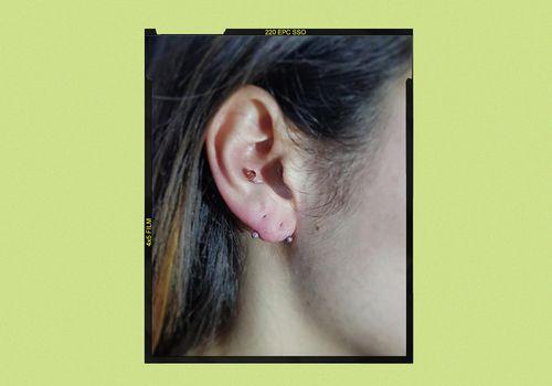Transverse love piercing