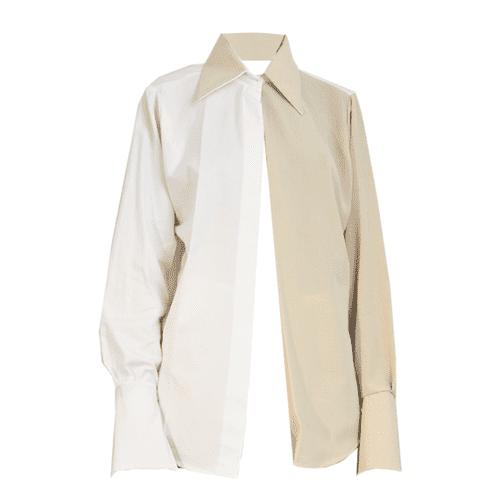 Aissata Ibrahima Lovers Contrast Split Shirt