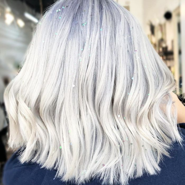hair glitter ideas - sequins