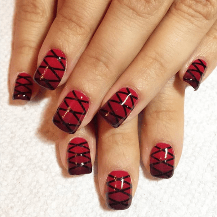 These 2018 Nail Designs Prove Black & Red Are the Best Combo
