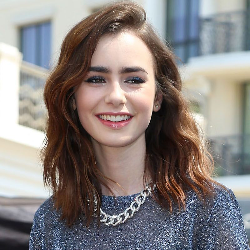 Brown Hair Color Lily Collins
