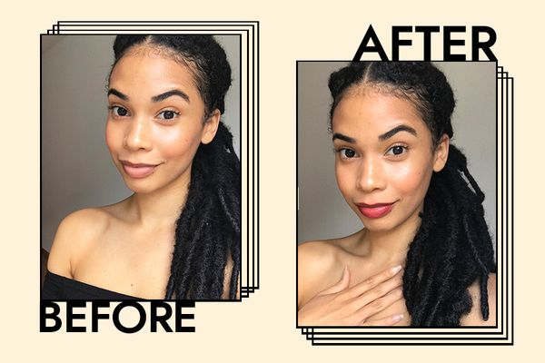 KVD Beauty Everlasting Liquid Lipstick Results on Celeste Polanco