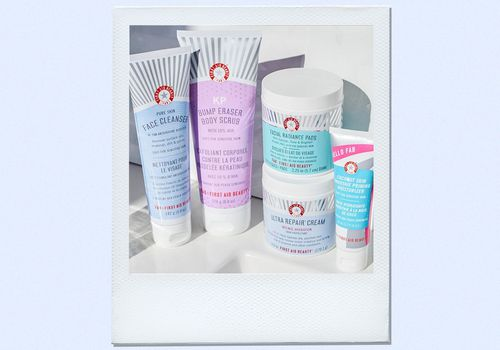first aid beauty products on kitchen sink