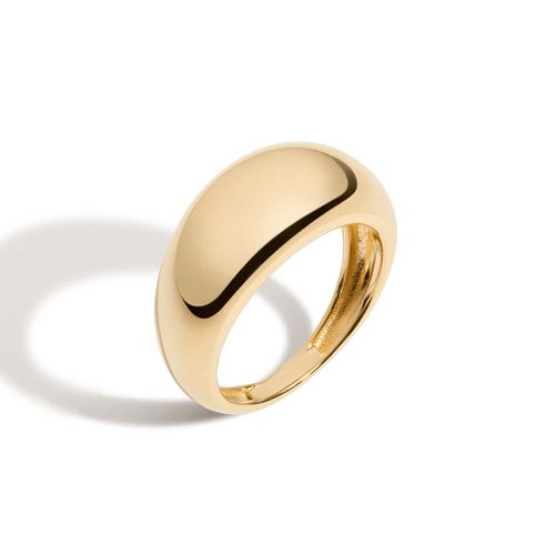 Gold Smooth Arch Ring ($150)