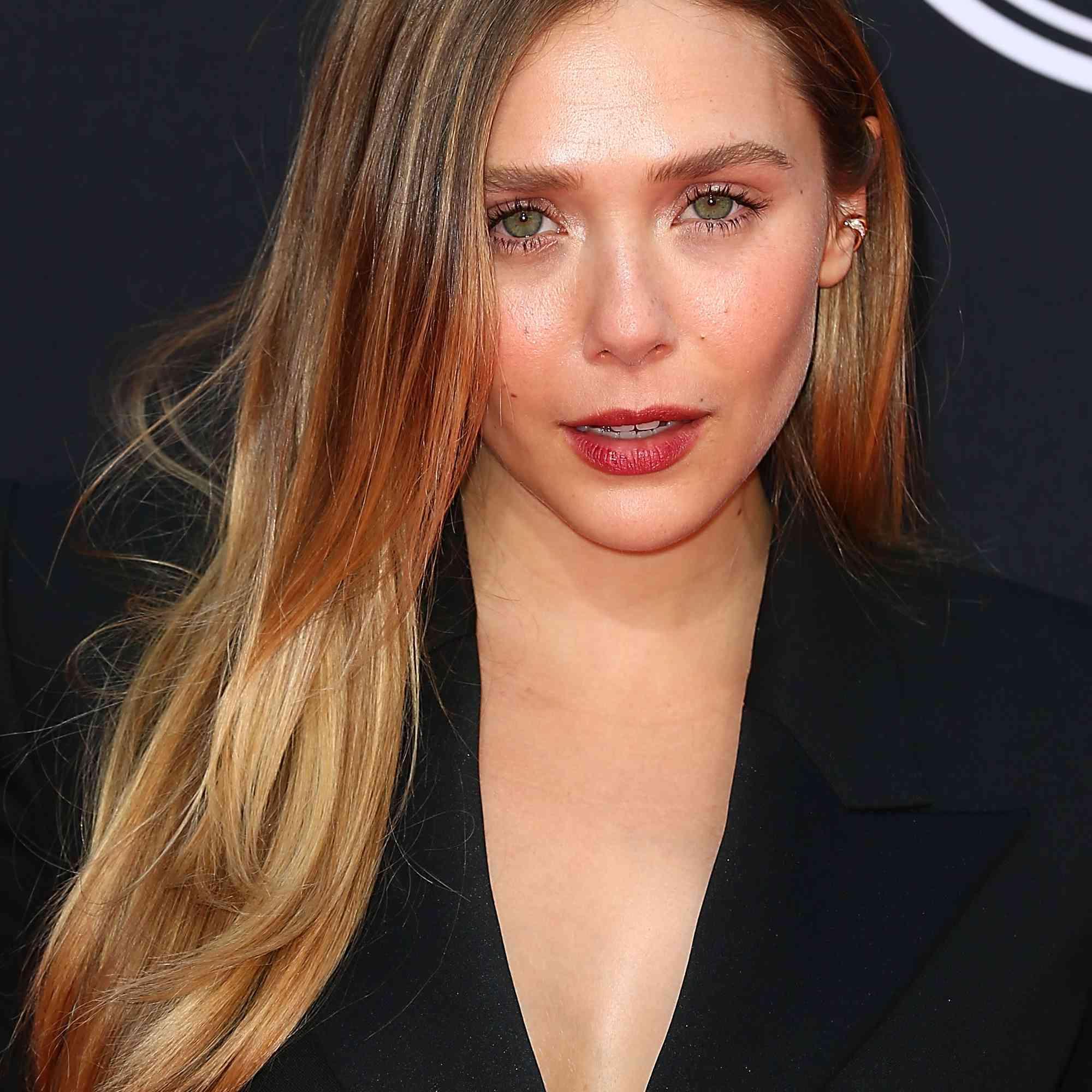 Elizabeth Olsen in black top