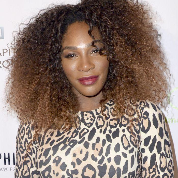 Serena Williams curly, voluminous natural hair