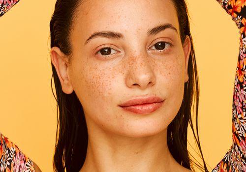 closeup of person with no makeup