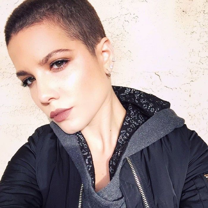 Halsey On Shaved Heads And Gray Lipstick