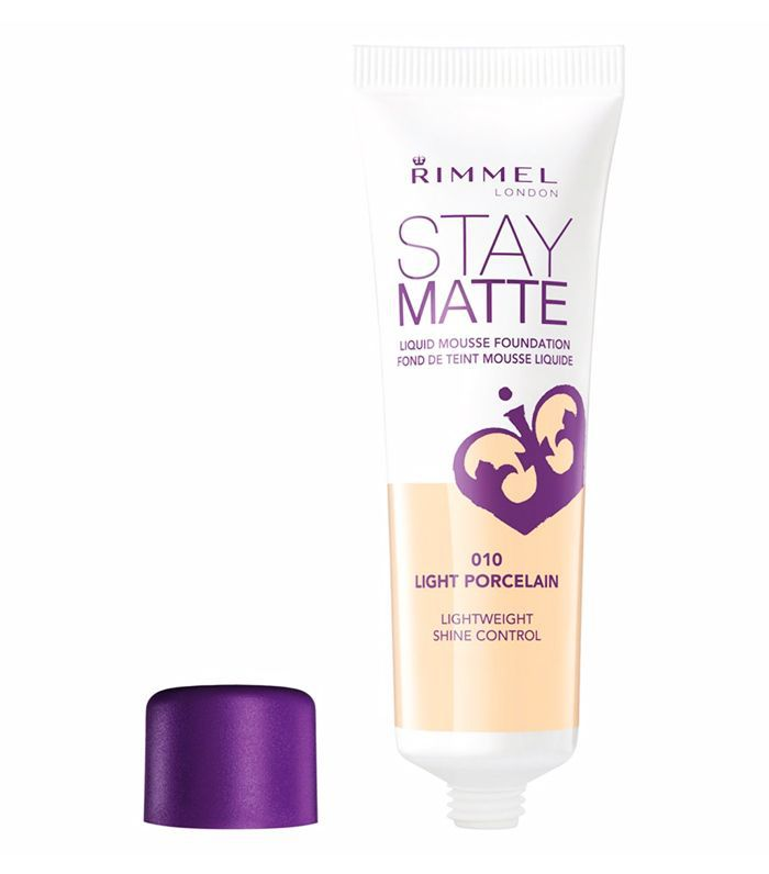 Best drugstore matte foundation: Rimmel London Stay Matte Foundation