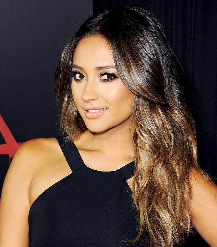 Shay Mitchell with ombre hair