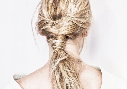 blonde fishtail braid